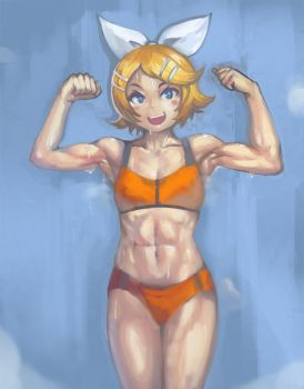 Kagamine Rin's Strength by Yilx
