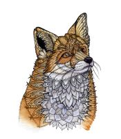Fox Portrait by ZHField
