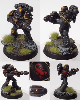 Red Scorpions Tactical Marine Meltagun by TheEternalRanger