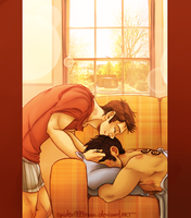Sterek - Morning Kiss by spider999now