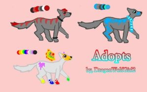 Wolf Adoptives by DragonWolfGirl2