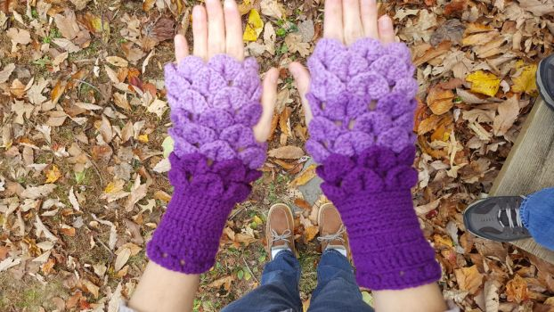 Dragon Scale Gloves by DuctileCreations
