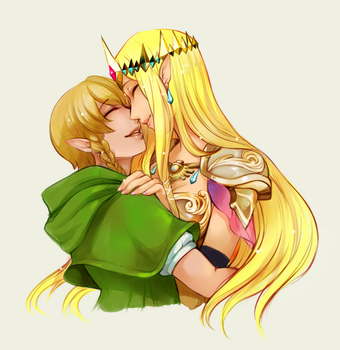 zelda and linkle by manosu