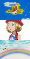 Serena saw Ho-Oh for the 1st Time by WillDynamo55