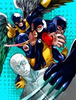 Battle Artist: All New X-Men (Colored) by bernce
