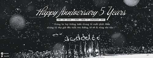 HAPPY ANNIVERSARY 5 YEARS with BTS by Moon2k2
