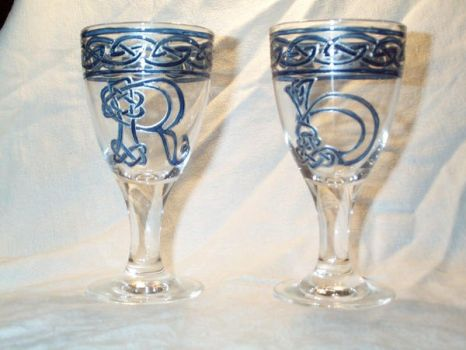 Wedding goblets - Commission by kaylalowes