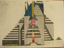 Earth Military Council Building (In Process Draw) by GeneralThomas03