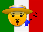 Smileys of the World: Italian with flag (svg) by mondspeer