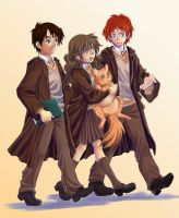 Harry, Hermione and Ron by lince