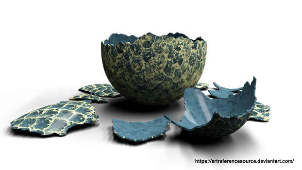 Stock PNG:  Cracked Dragon Egg by ArtReferenceSource
