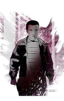 Eleven from Stranger Things by CartoonCaveman