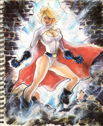 Sketch 07 : Power Girl by Cinar
