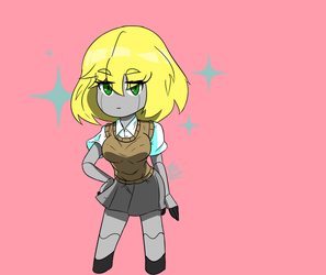 She's President of the Robotics Club tbh by ProtoScene