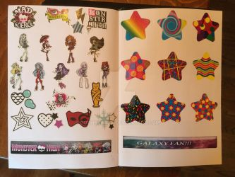 Monster High stickers and Stars stickers by GothNebula