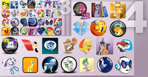 Pony Icon Set 4 by Elalition