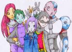 The Teen Titans by Happy-R