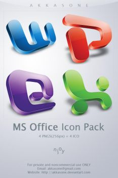 MS Office Icon Pack by akkasone
