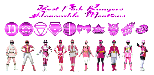 Best Pink Rangers Honorable Mentions by rangeranime