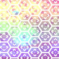 Rainbow flower background by HaruRyomaru86