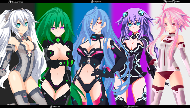 Hyperdimension-Neptunia-collab by Zeroshini