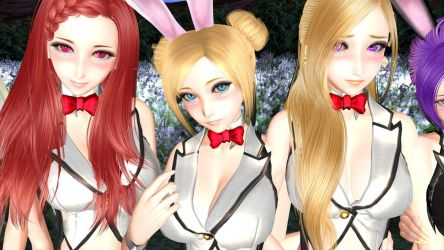 The posters of the rabbit girls #4 by dyc8819090