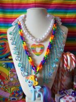 Sonic Rainboom GGG Necklace by lessthan3chrissy