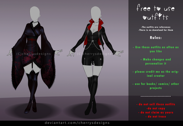 FREE TO USE OUTFIT SET #4 by CherrysDesigns