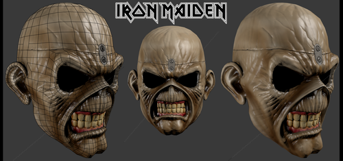 Eddie the Head 3d sample by J-M-D