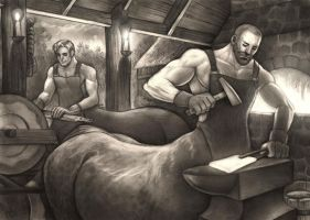 Blacksmiths by CooperCentaur