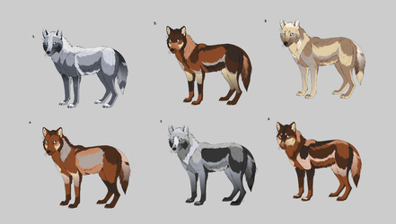Wolf Adoptables Auction (OPEN) by elmdreea