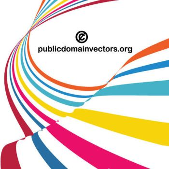Colorful stripes vector by publicdomainvectors