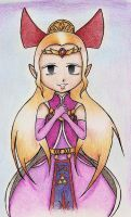 Art Exchange... Princess Zelda by DogDemonsRock5
