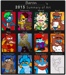 2015 Art Summary by Fluffy-Marshall