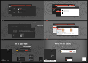 Numix Dark and Linght Theme For Windows 7 by Cleodesktop