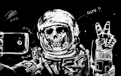 Skull Astronaut by Raywolfgang