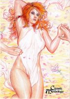 Aphrodite Sketch Card - Keith O'Malley by Pernastudios