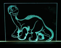 Littlefoot Acrylic LED Picture by steeph-k