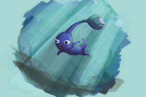 Blue Pikmin by Smearg