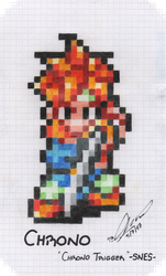 PIXEL| Chrono - Chrono Trigger by Neo-the-Hedgefox