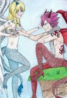 Celestial and Fire Dragon - NaLu by alicemay18