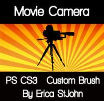 Movie Camera PS CS3 Brush by estjohn