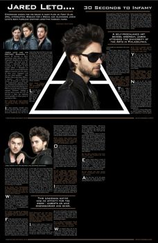30 Seconds to Mars Magazine Spread in Revolver by KriticKilled
