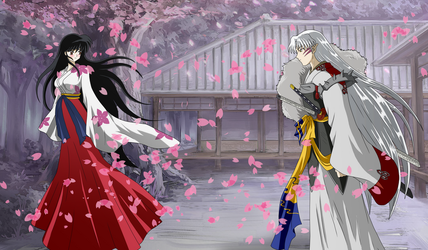 Lady Rin and Lord Sesshomaru, Together Forever by inu-sessh-rin