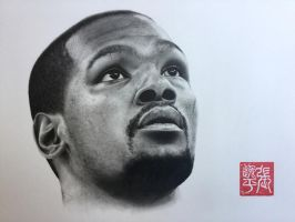 Kevin Durant Portrait by yipzhang5201314