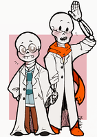 Dr WD Gaster's Personal Assistants by cottelini