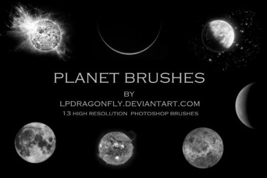 planet brushes by ivadesign