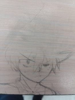 In class sketch of my O.C by Aria-Autums