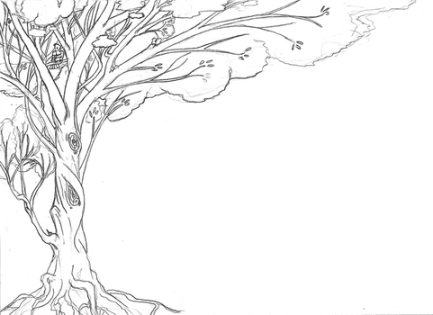 Tree Lineart for background by tzigany