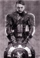 Captain America (Chris Evans) [pencil] by mchurchill1982